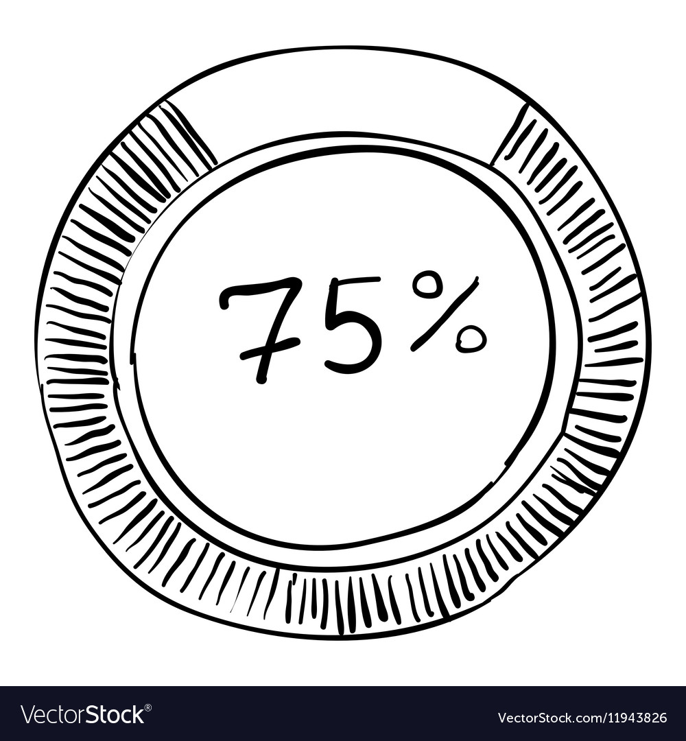 Percent showing infographics hand drawn style