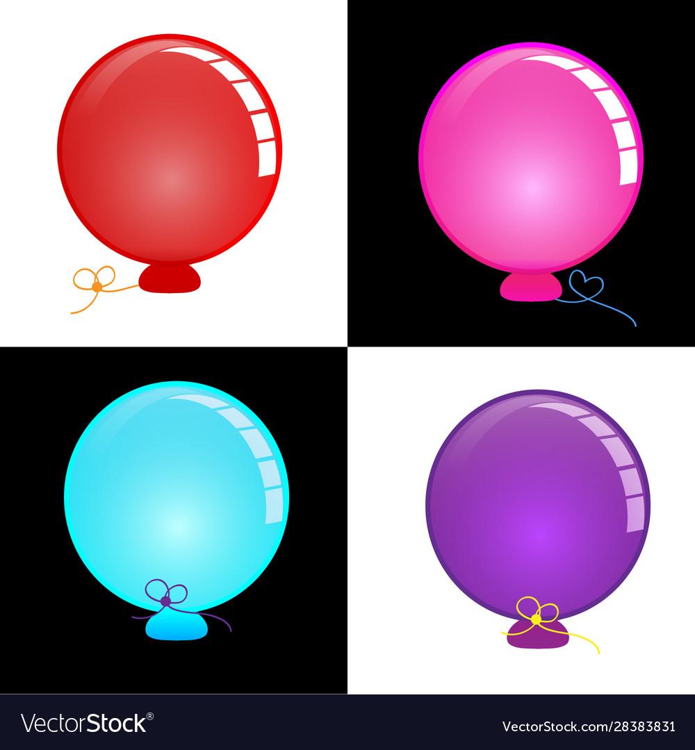 Circle balloon bright and colorful
