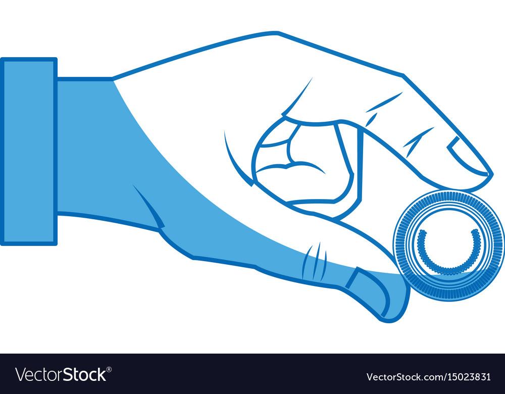 Hand business man put coin bank