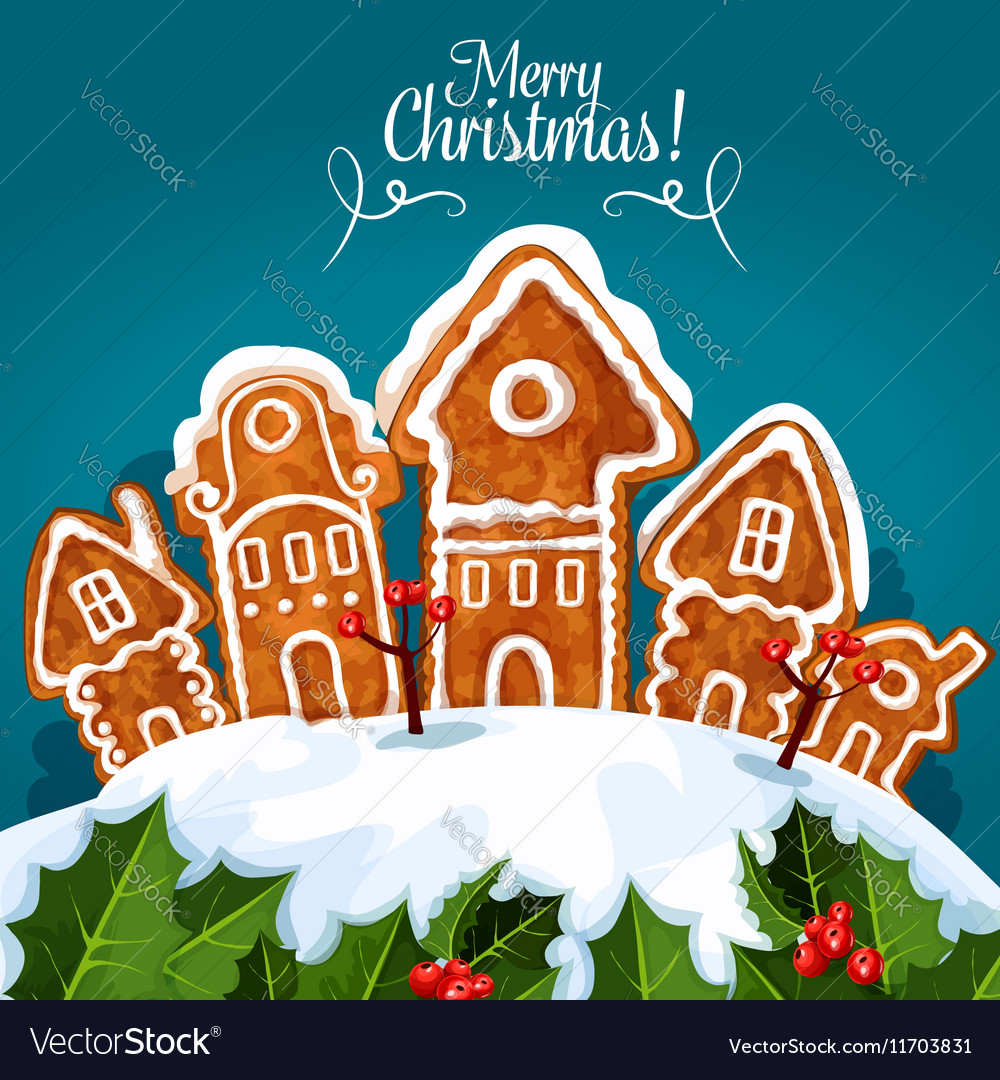 Christmas Gingerbread House.Merry Christmas Gingerbread House Poster
