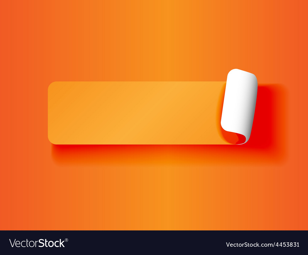 Peeling label orange on orange vector image