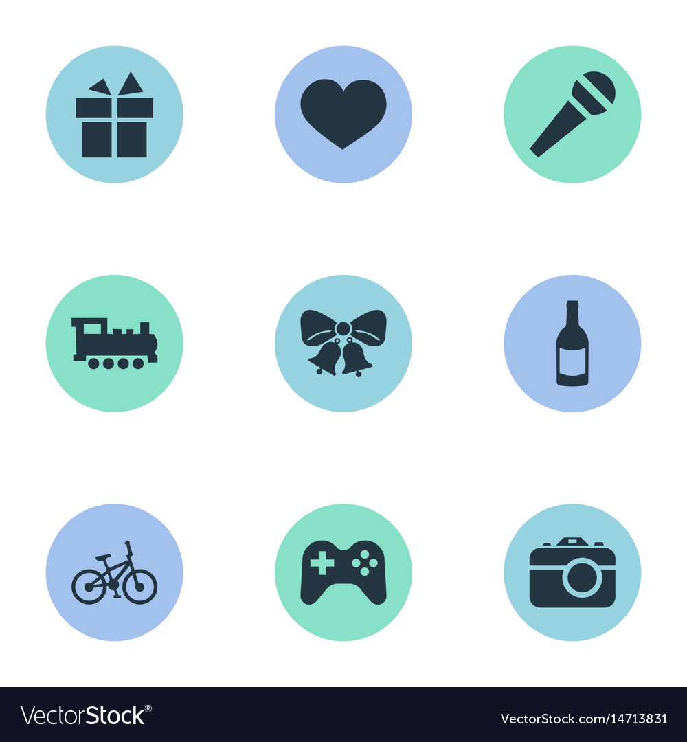 Set of simple holiday icons