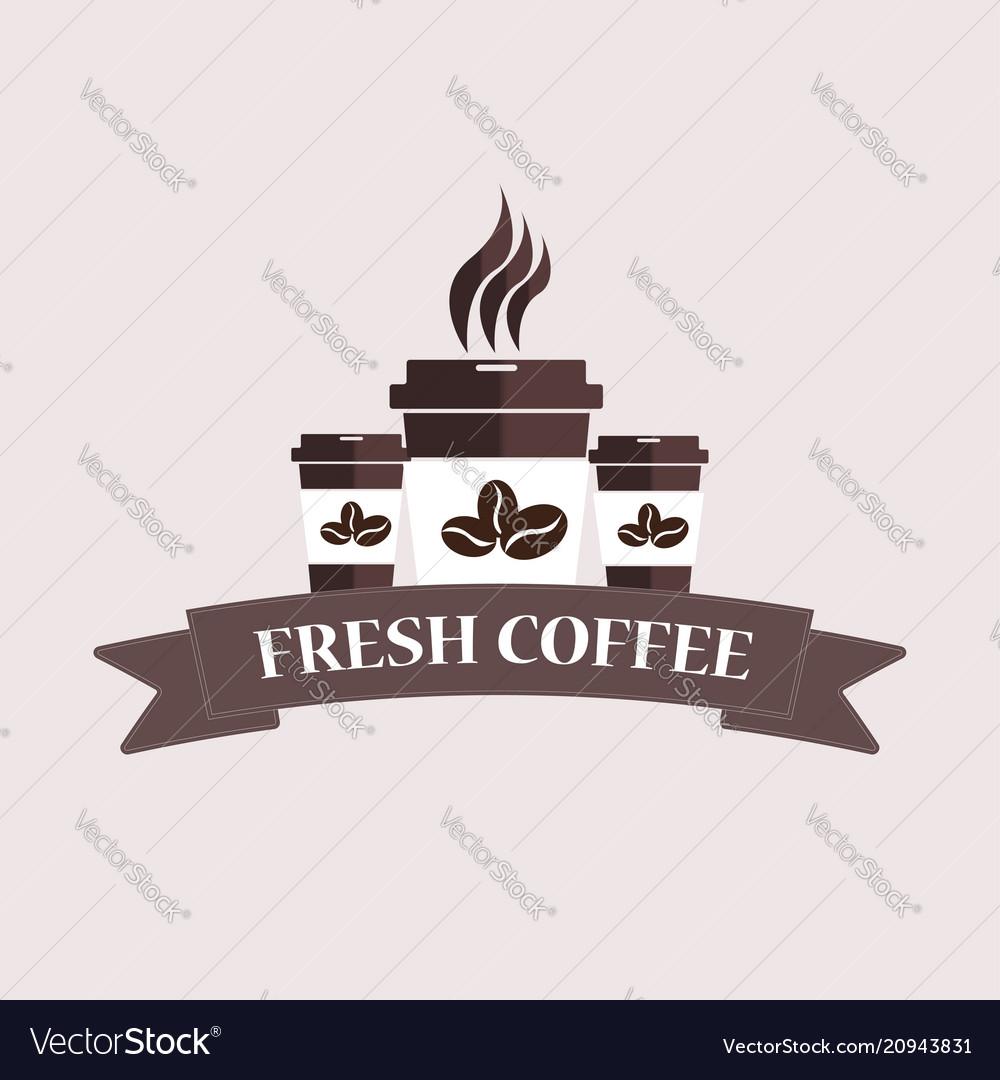 Typographic coffee shop