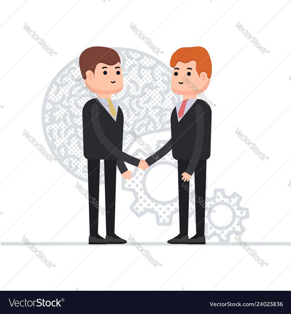 Business agreement of two businessmen interaction