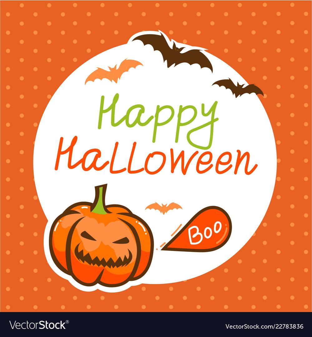 Cute happy halloween design template