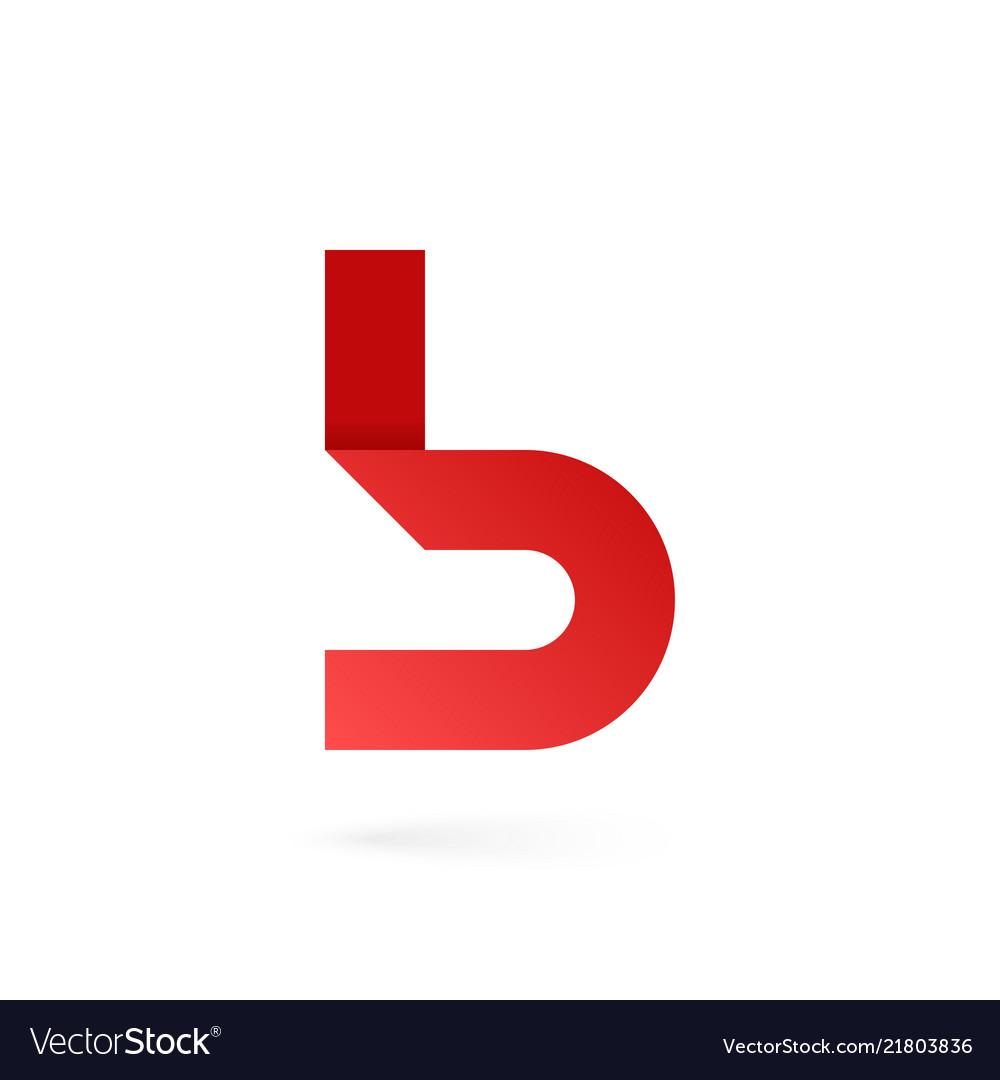 Letter b logo on white alphabet background