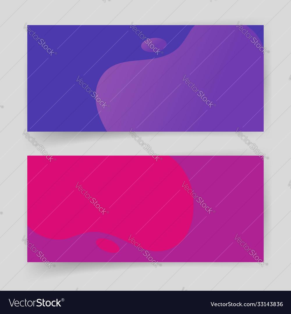 Liquid fluid shapes abstract elements design vivid