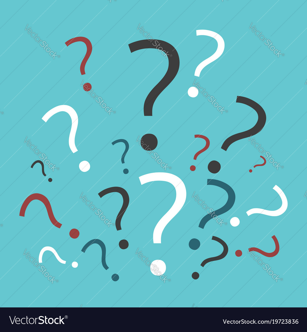 Many multicolor question marks