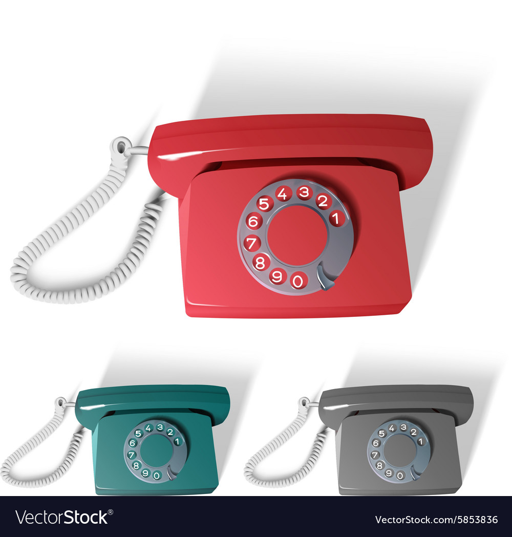 Old phone in different colors