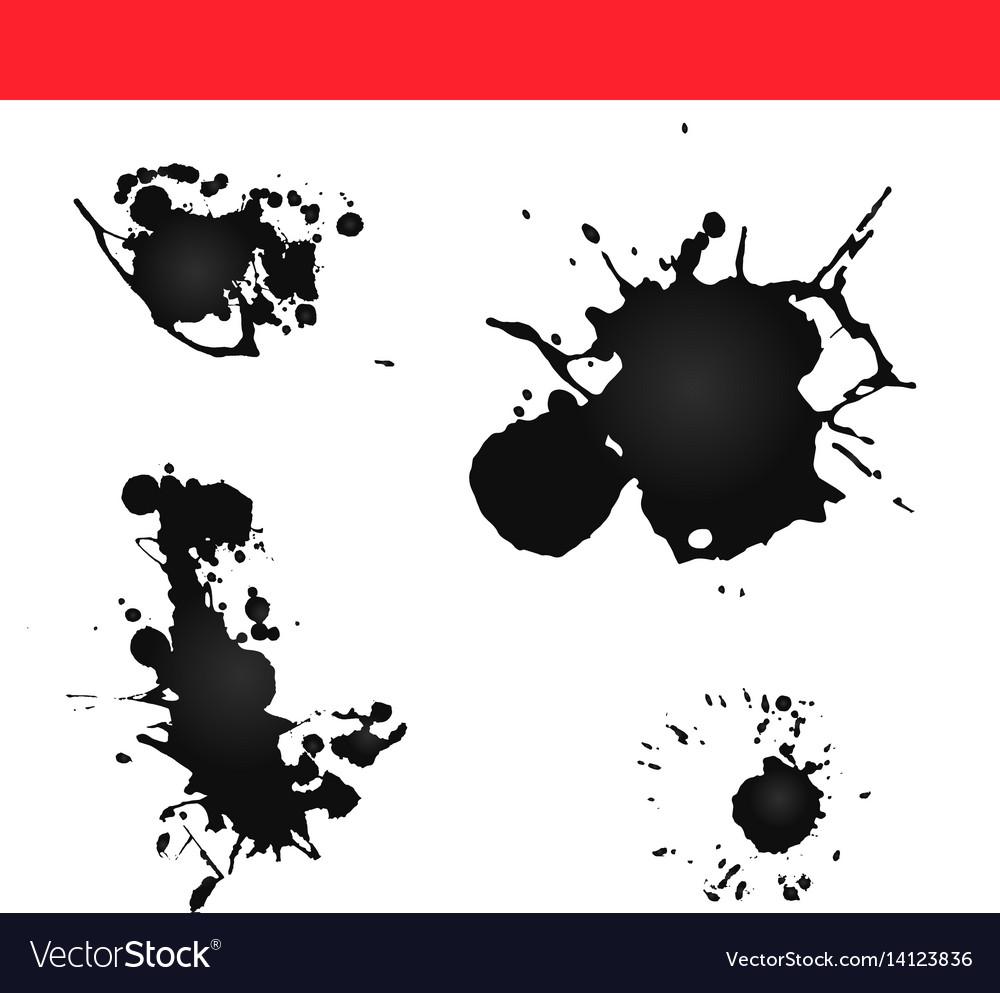 Paint splatter splash ink