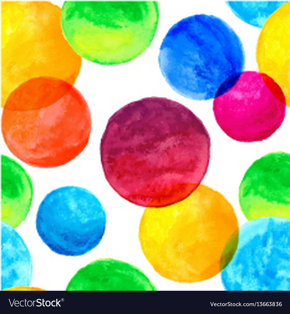 Seamless pattern with colorful watercolor painted
