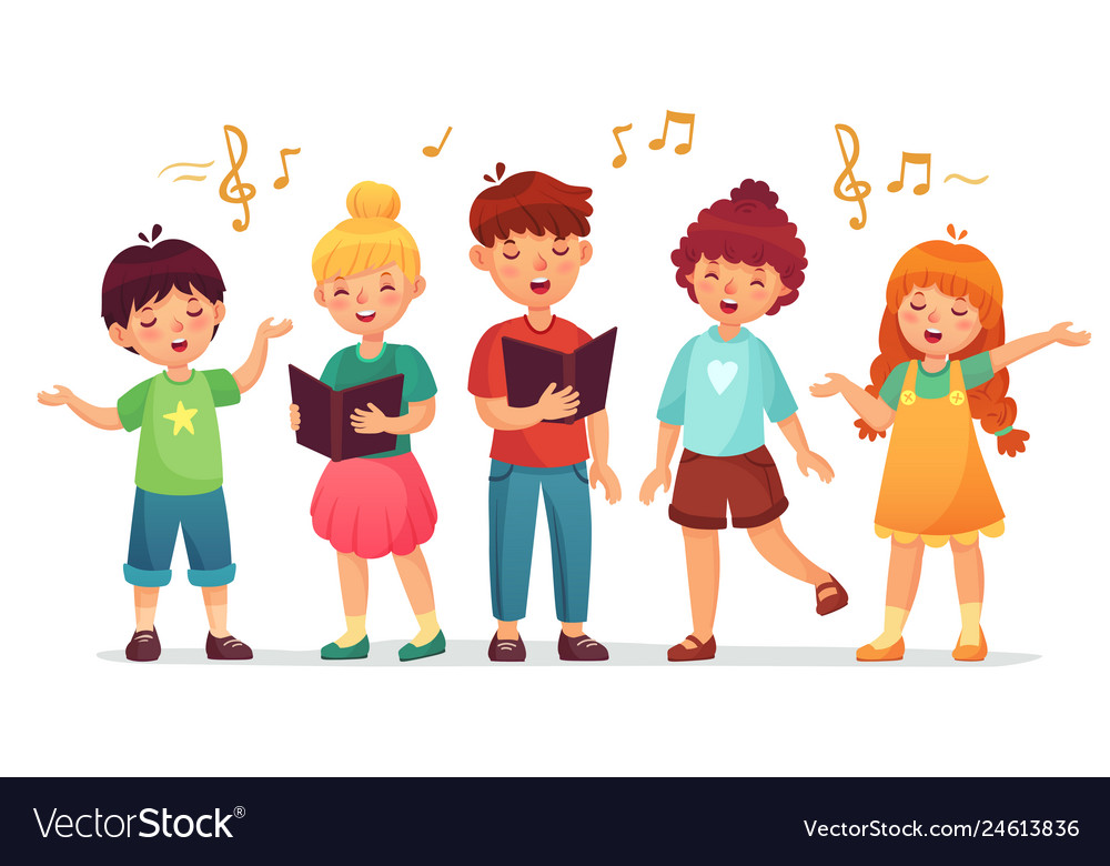 Singing kids music school kid vocal group and