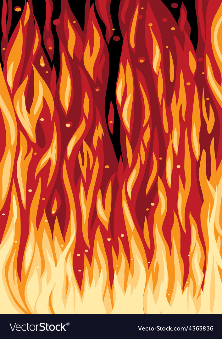 Spurts of flame vector image