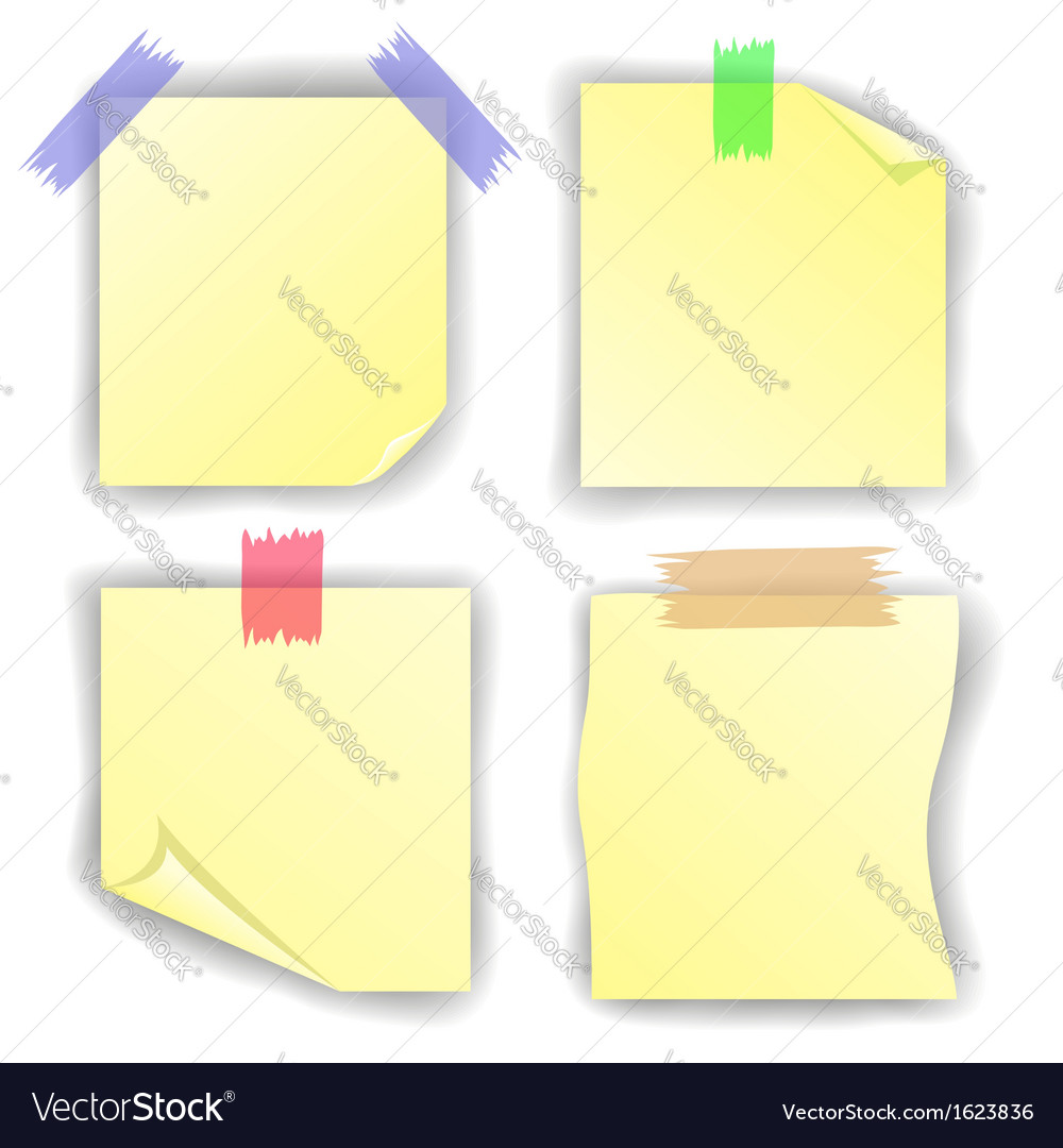 Yellow notice papers