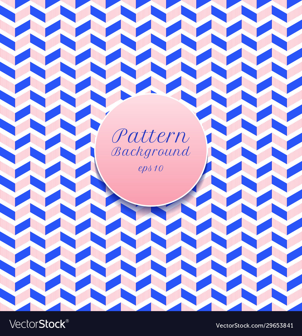 Abstract seamless pattern stripe chevron blue and