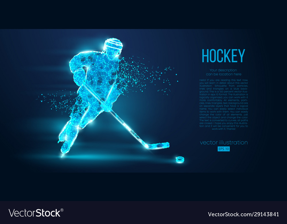 Abstract silhouette a hockey player