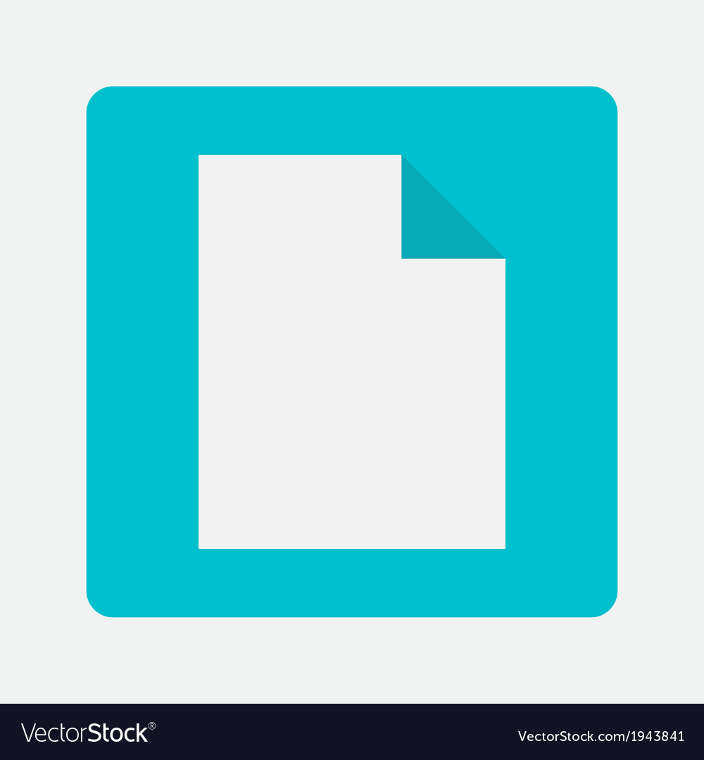 Blank paper icon