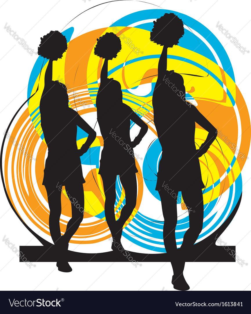 Cheerleaders vector image