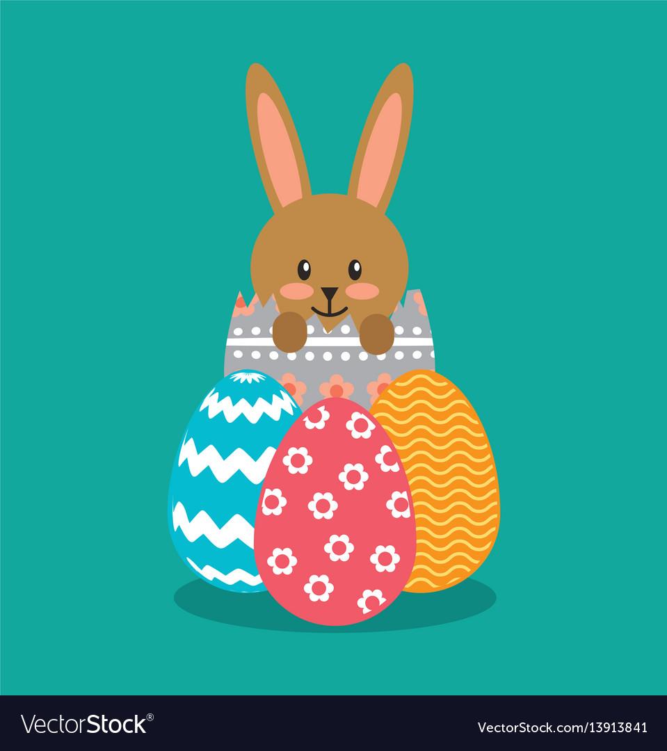 Cute rabbit character easter season
