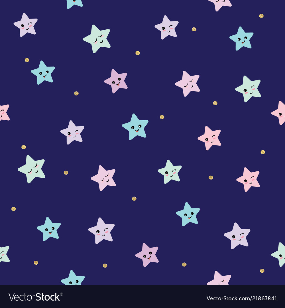 Cute seamless pattern background with cartoon