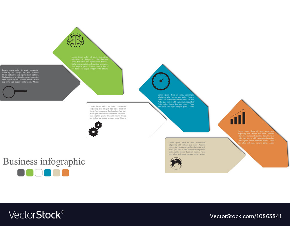 Infographics style options banner