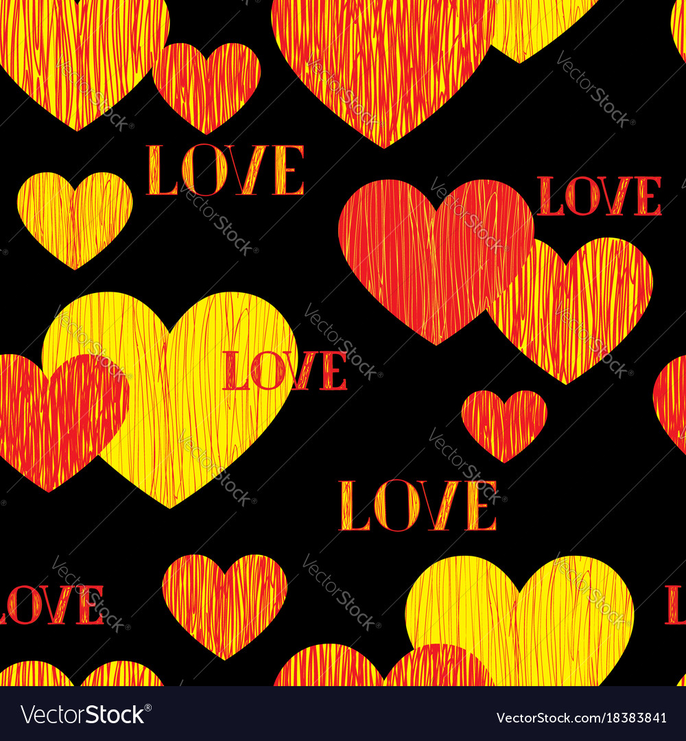 Love heart seamless pattern happy valentines day