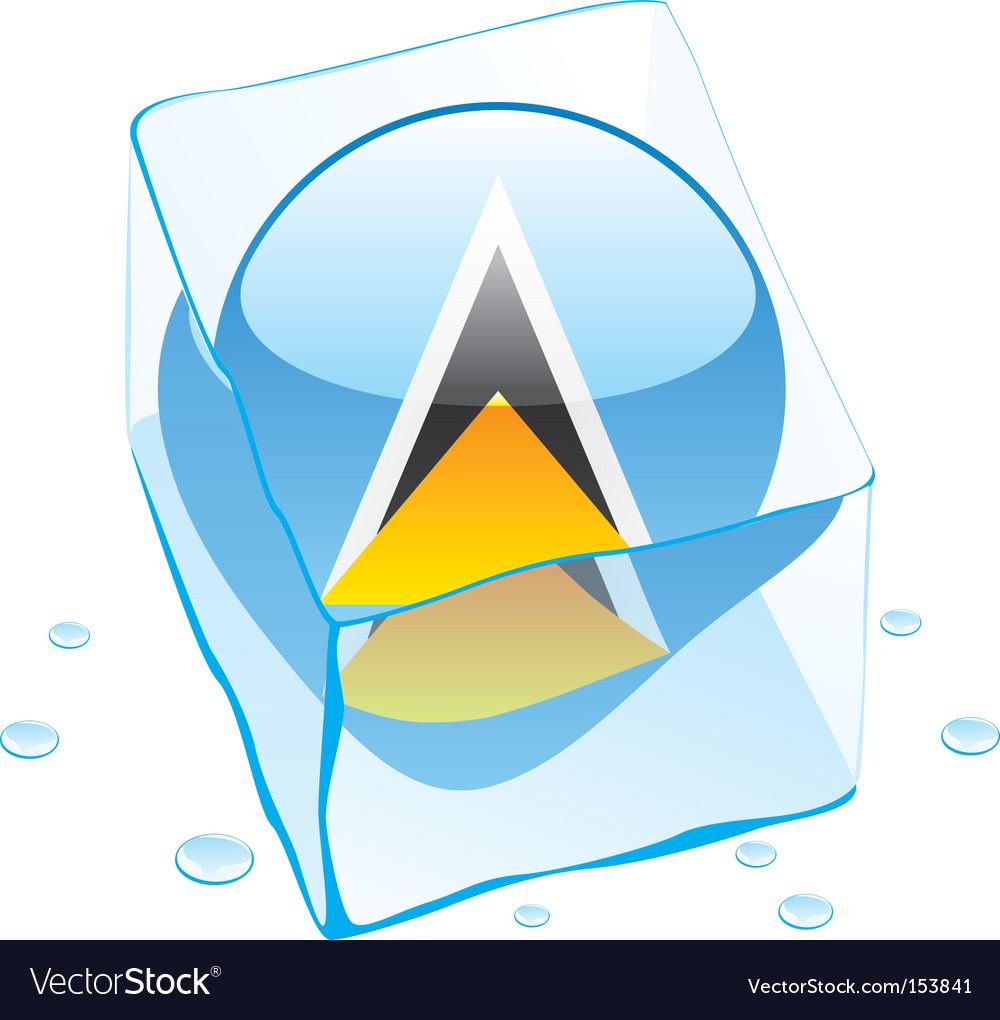 St Lucia flag vector image