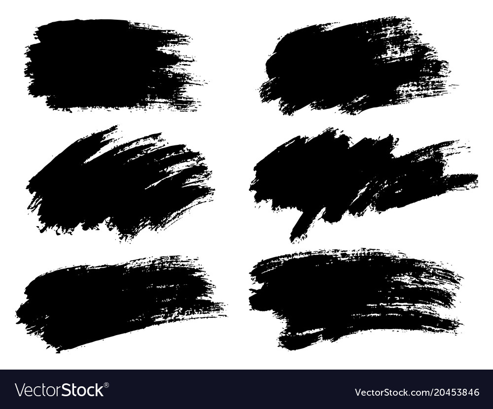 Black paint ink brush stroke brush line or