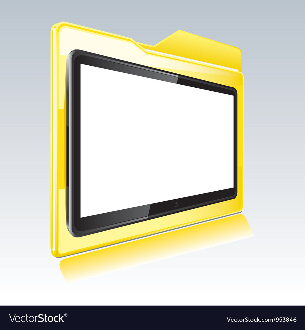 Folder with abstract monitor