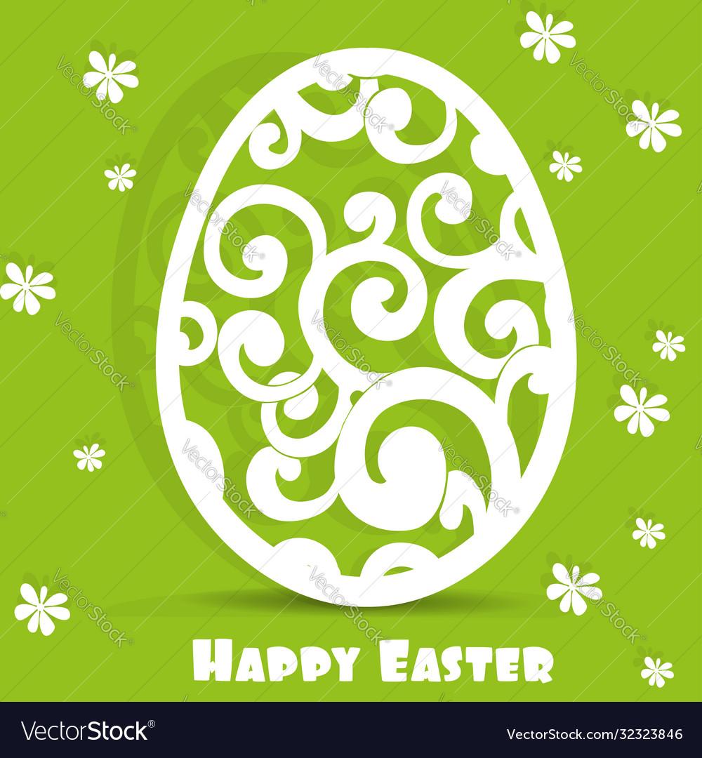 Happy easter egg openwork appliques postcard