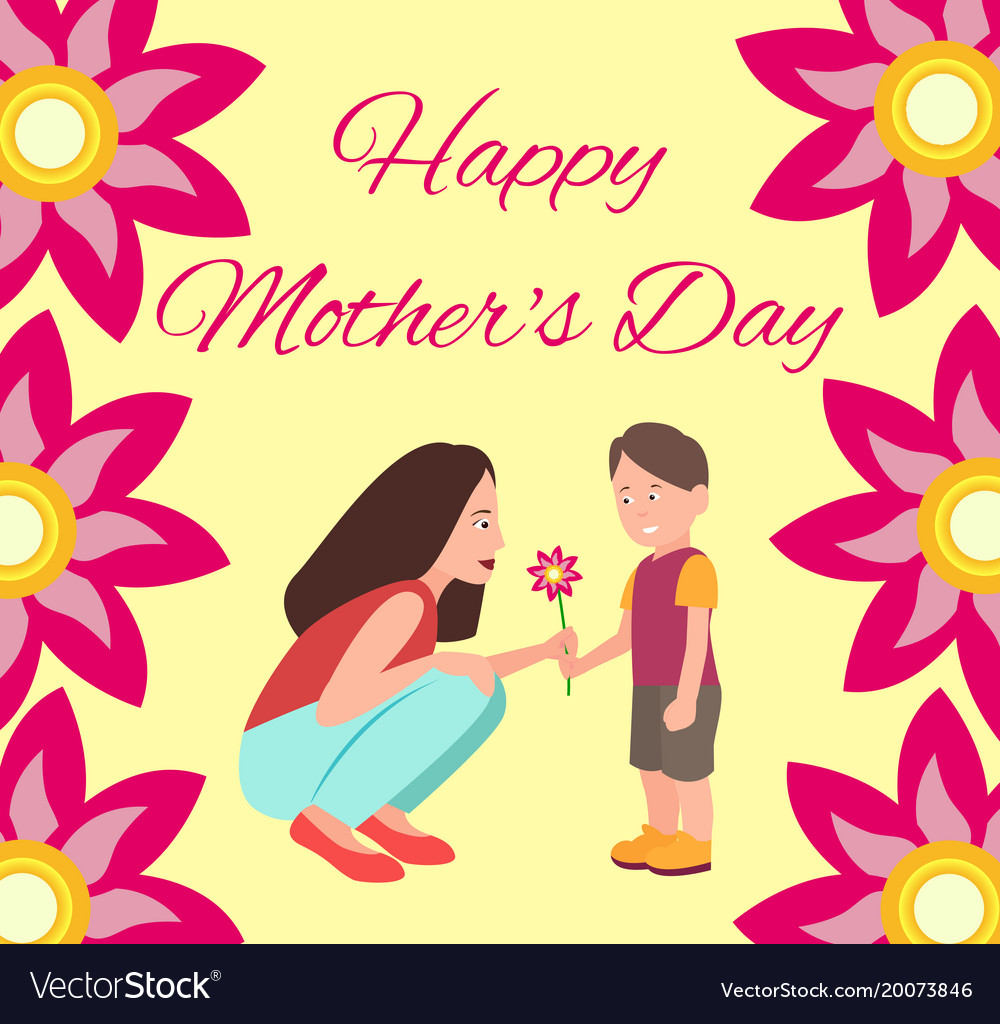 happy mothers day poster vector image