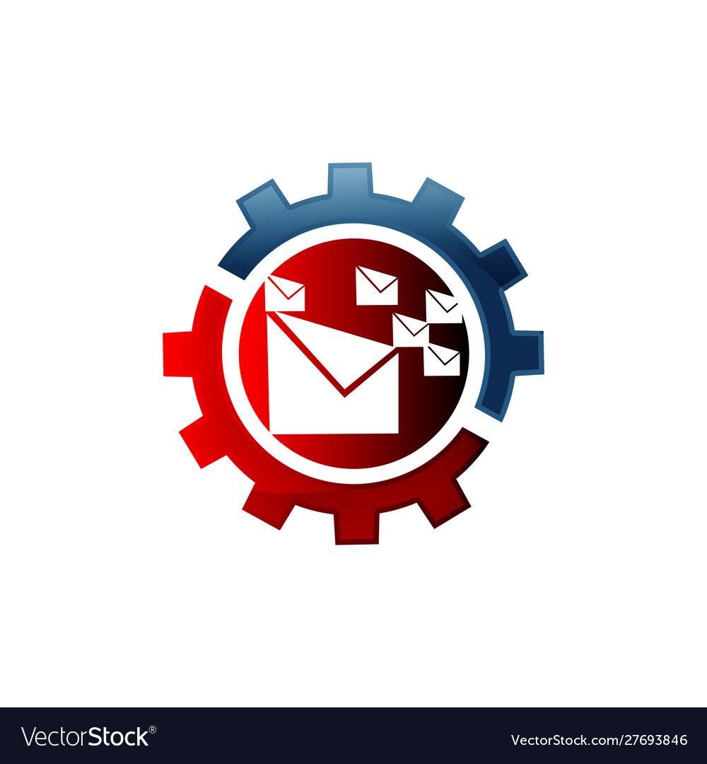 Icon email configuration mail setting gear