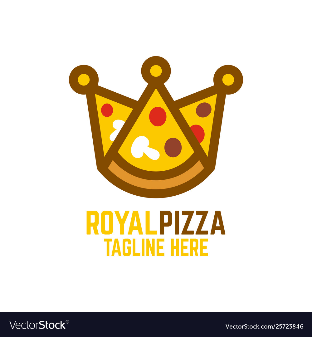Modern pizza and crown