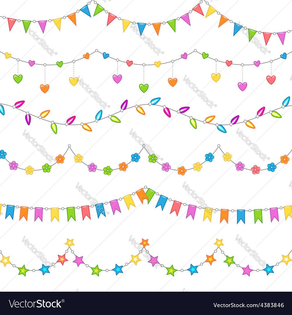 Party decoration white vector image