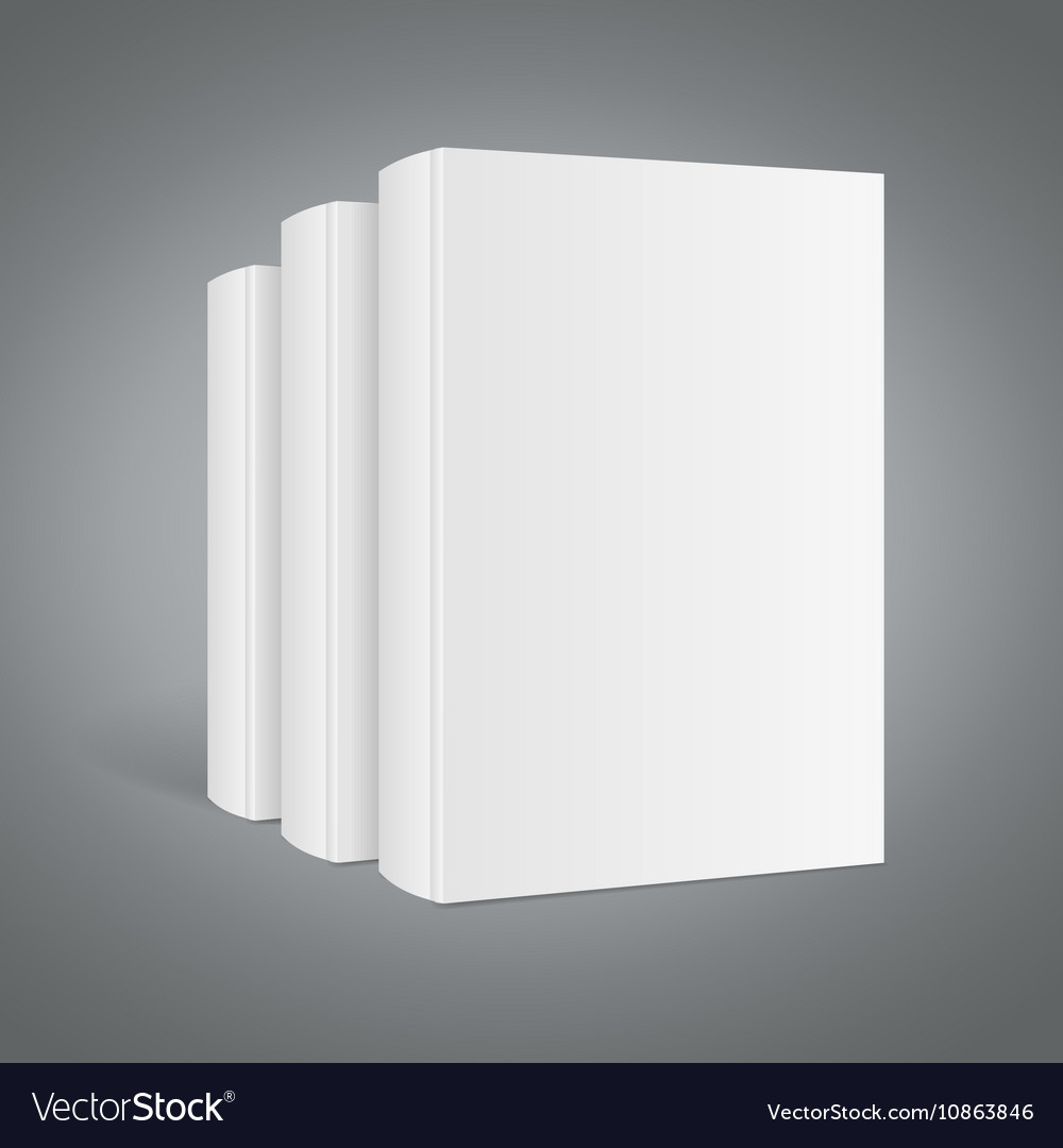 Template White Blank Book Stack