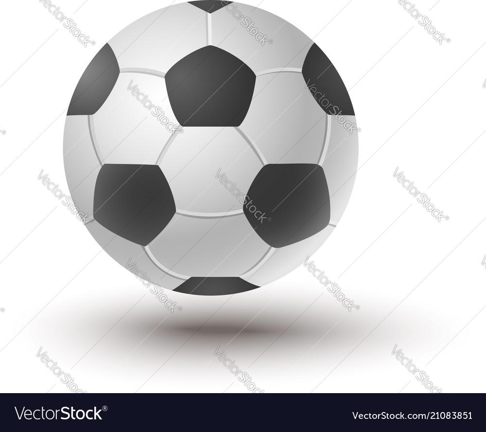 Ball for soccer vector image
