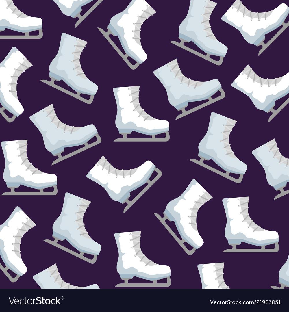 Ice skates sport pattern