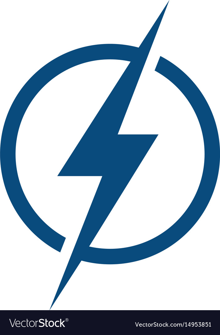 lightning logo design royalty free vector image
