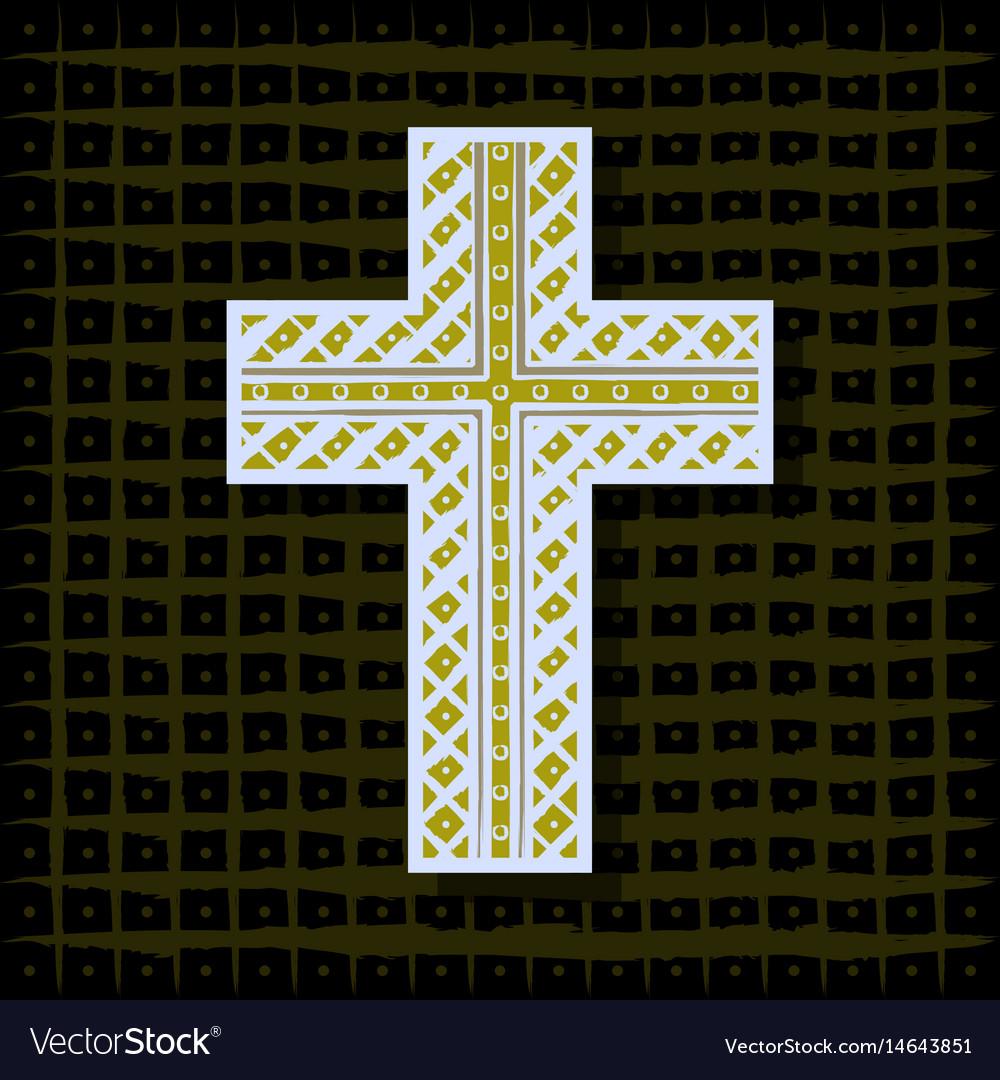 Orthodox christian cross-background