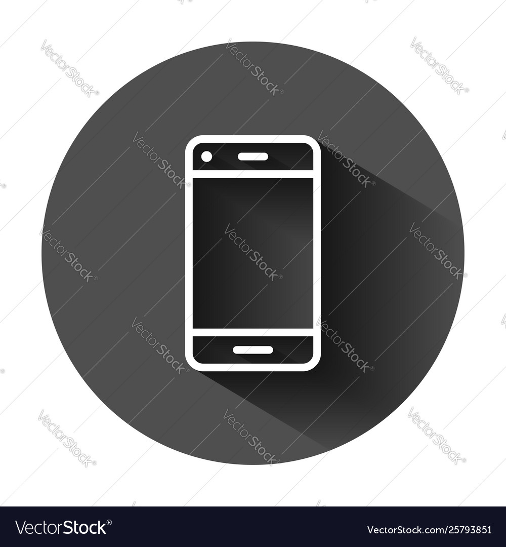 Phone device sign icon in flat style smartphone