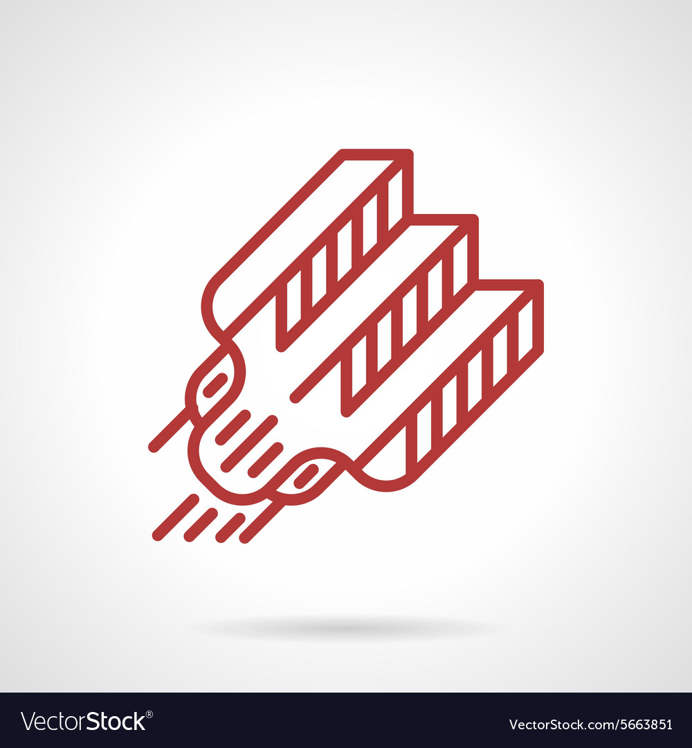 Red line tattoo needle icon