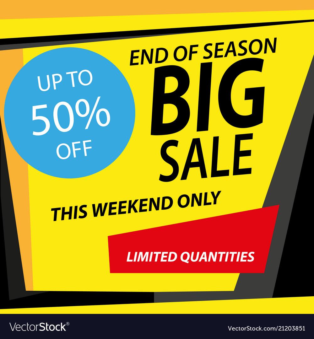 Sale banner template design big sale special