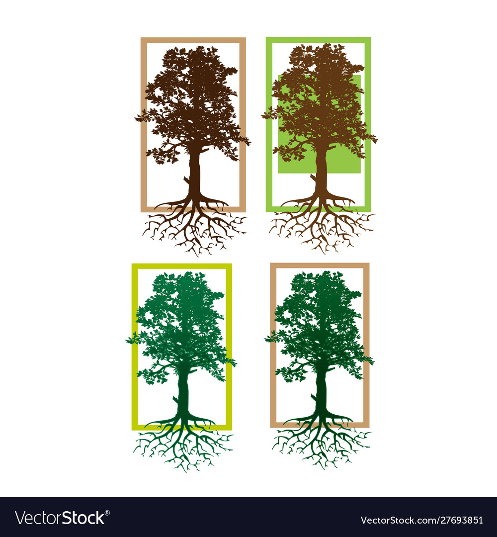 Tree logo abstract design template