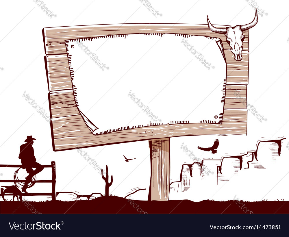 Wood sign background for textcowboy ranch