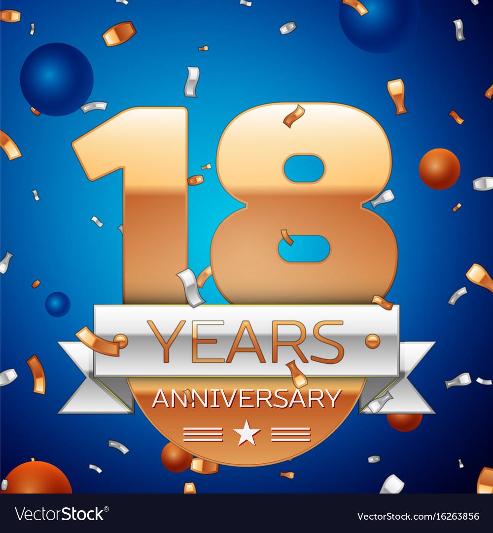Eighteen years anniversary celebration design