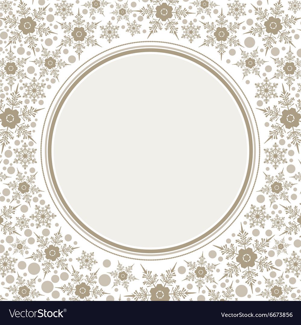 Frame template for greeting Christmas card vector image