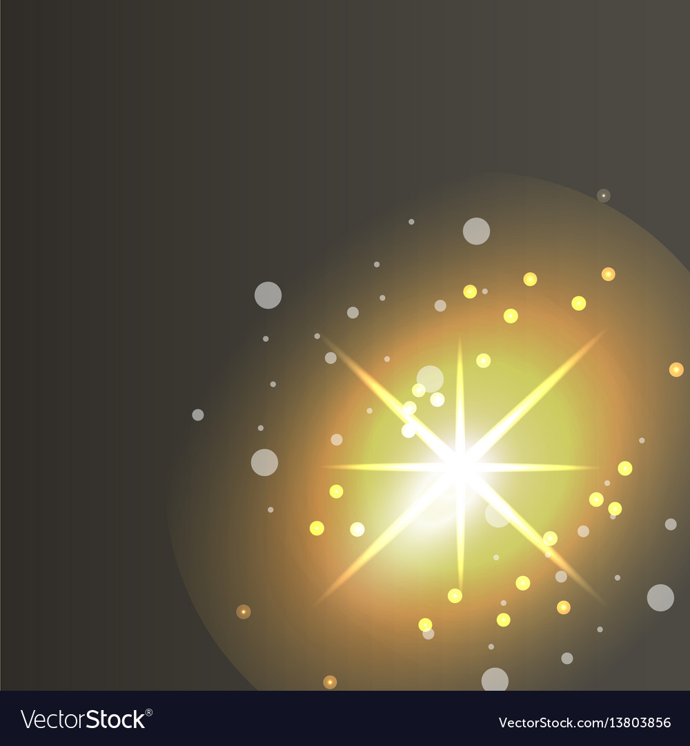 glowing lights effects on dark background glow vector image