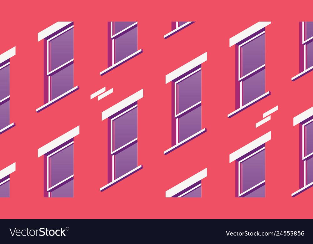 Isometric building facade