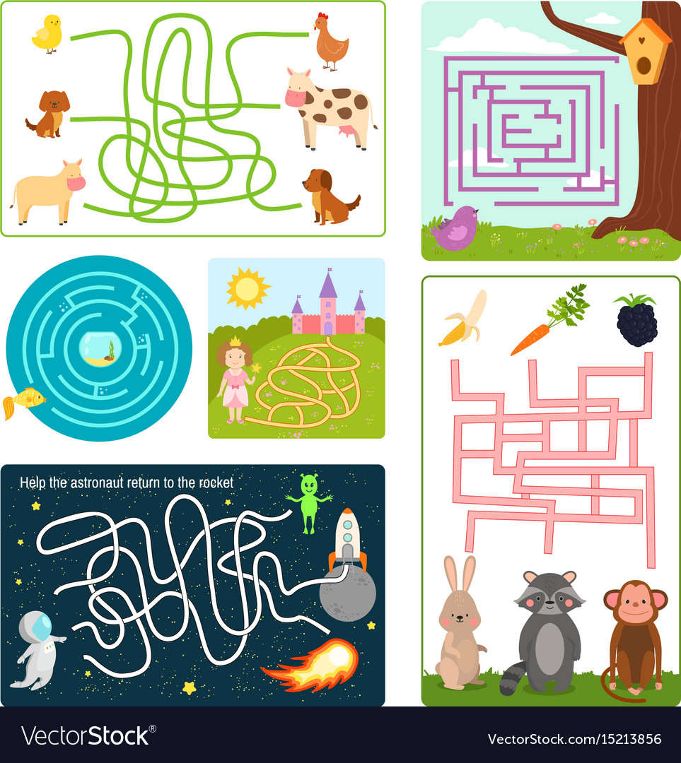Labyrinth maze conundrum shape rebus logic game