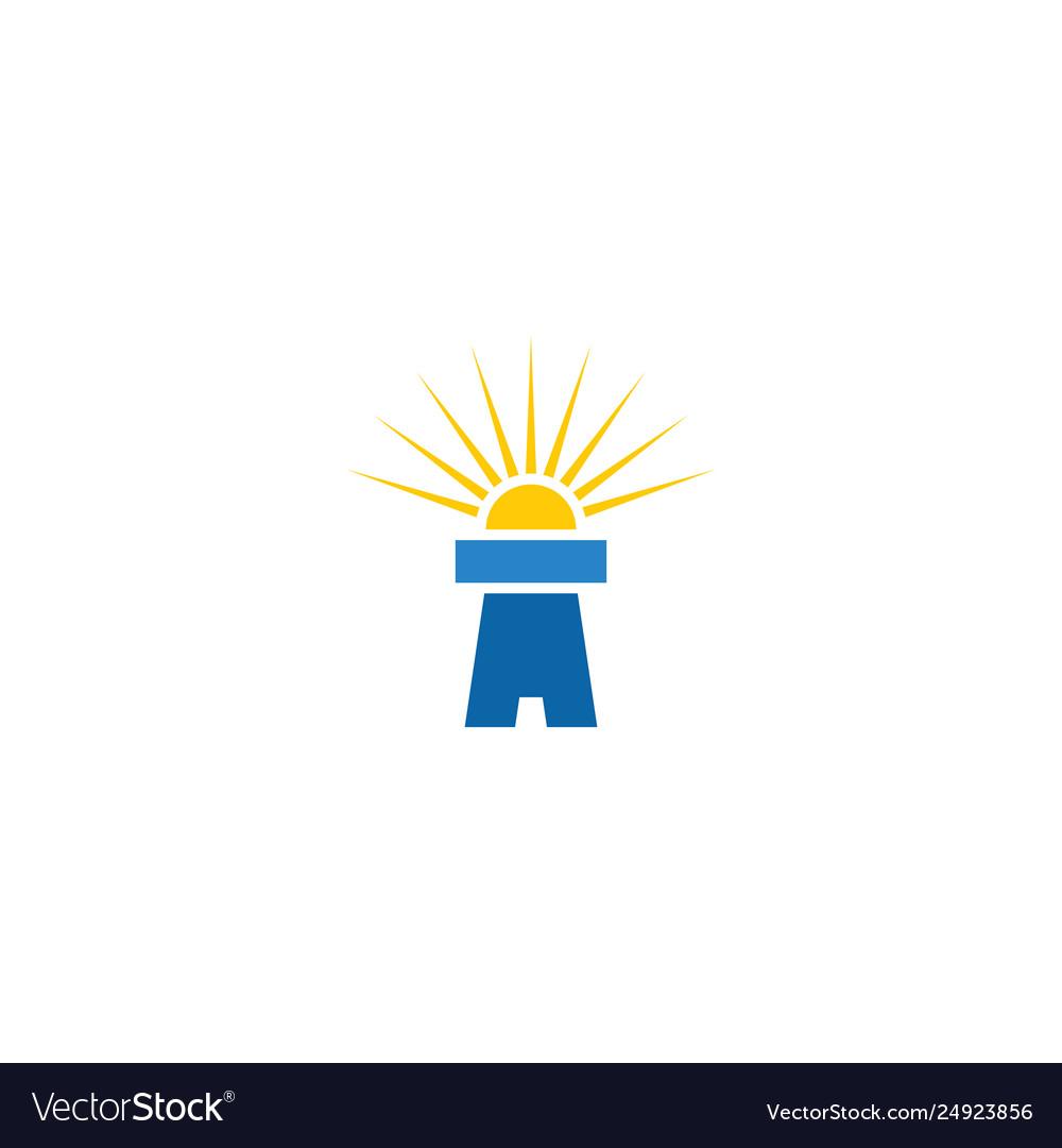 Lighthouse logo icon sign element